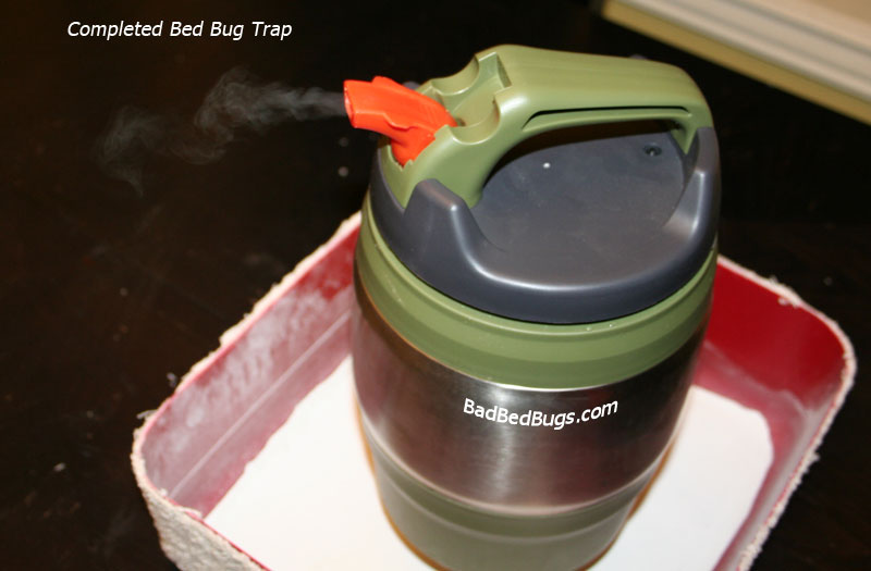 Bed bug traps make your own detector or trap for under 10 completed bed bug trap ccuart Choice Image