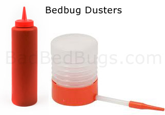 How to spray bed bug powder using these inexpensive dusters